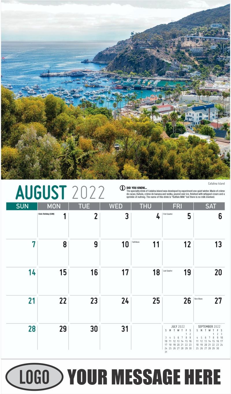 Catalina Island - August - Scenes of California 2022 Promotional Calendar