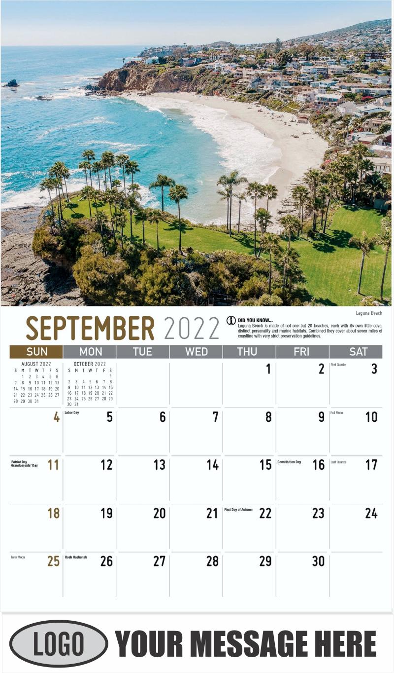 Laguna Beach - September - Scenes of California 2022 Promotional Calendar