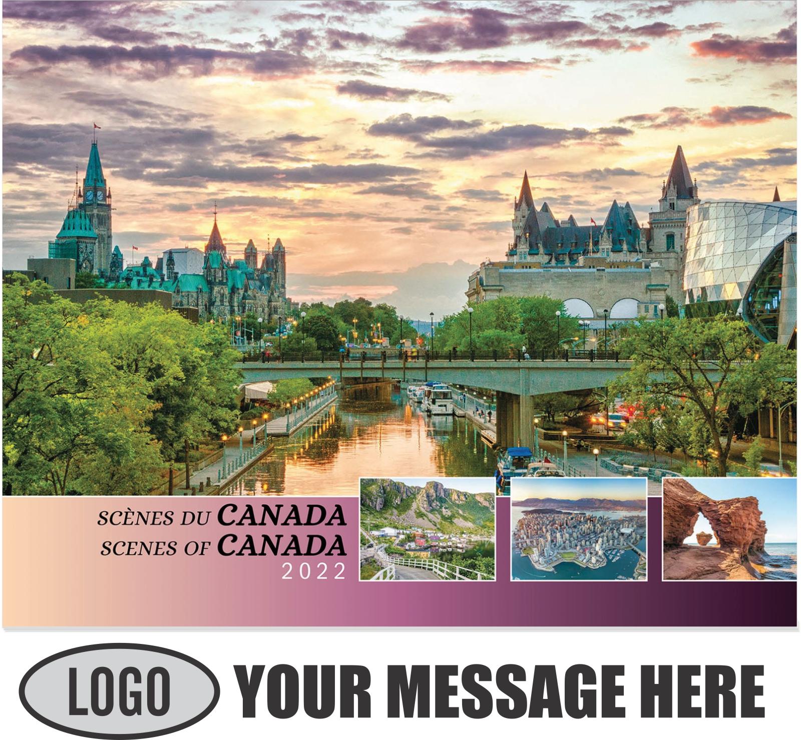 2022 Scenes of Canada(French-English bilingual) Promotional Calendar