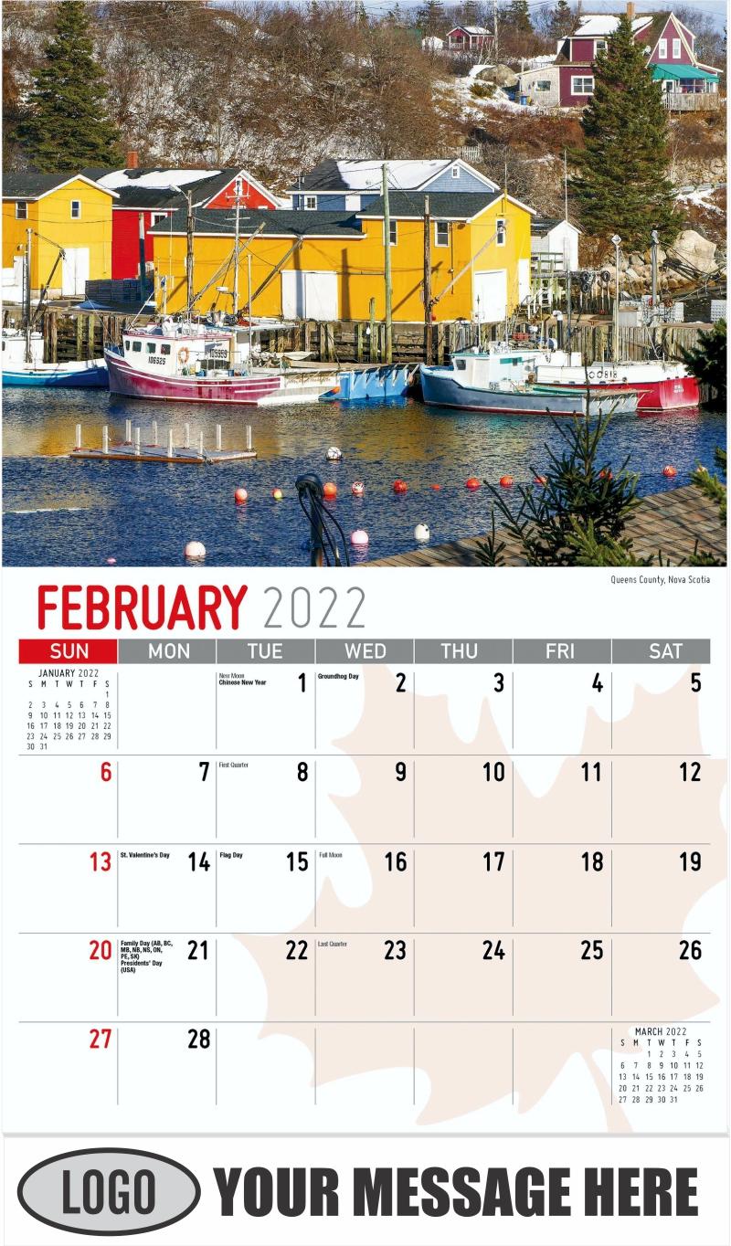 Montreal, Quebec - February - Scenes of Canada 2022 Promotional Calendar