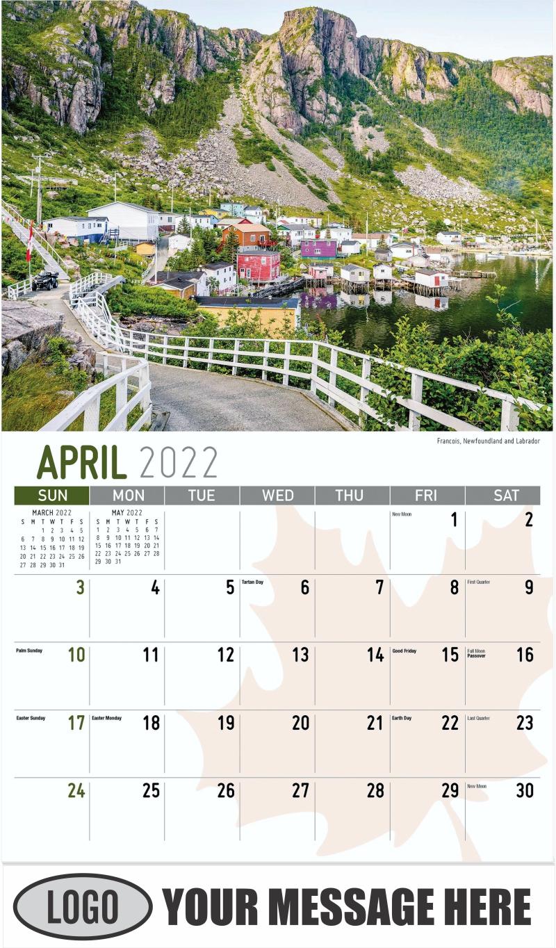 Nahanni National Park Reserve, Northwest Territories - April - Scenes of Canada 2022 Promotional Calendar
