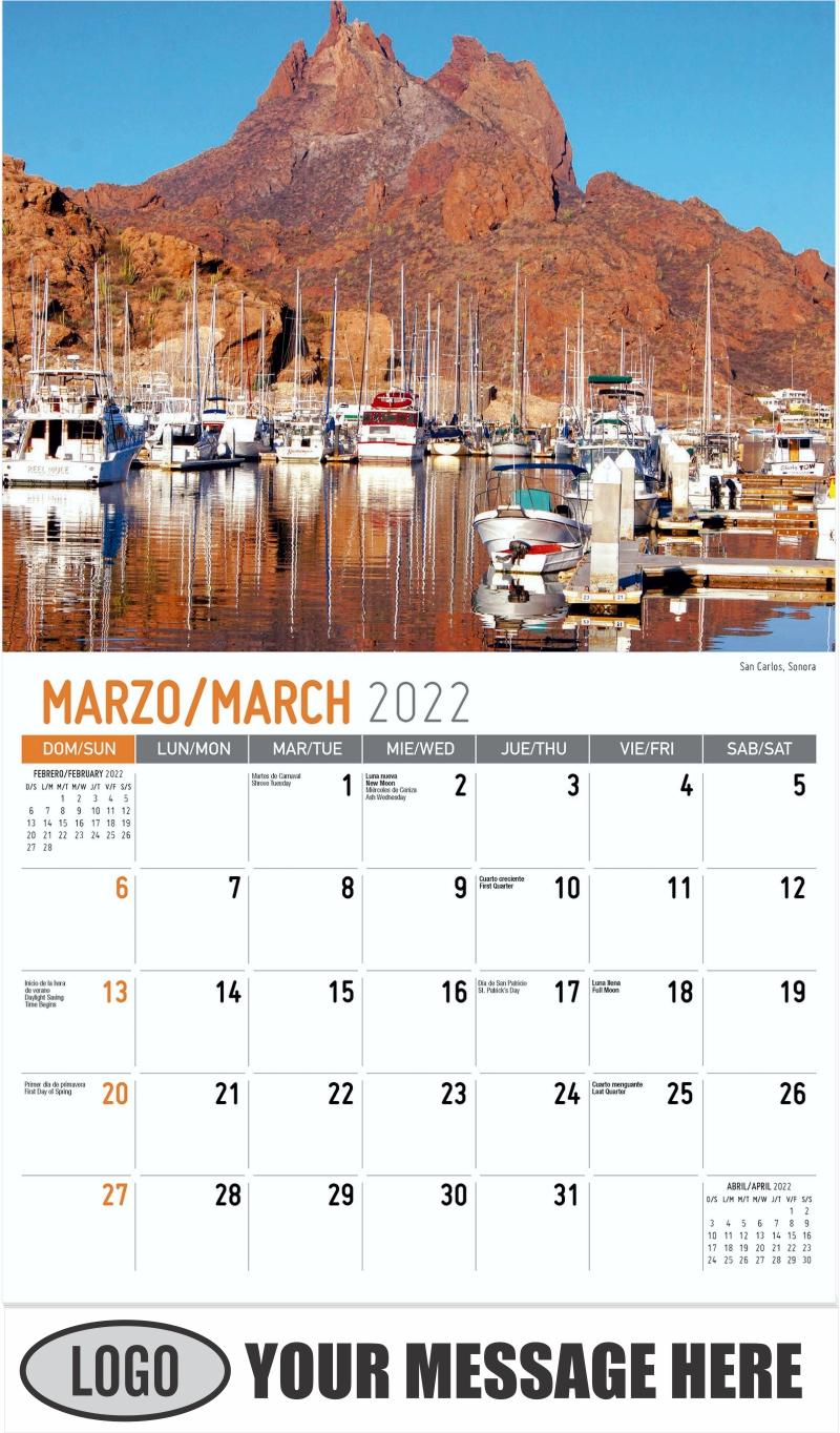 San Carlos, Sonora - March - Scenes of Mexico (Spanish-English bilingual) 2022 Promotional Calendar