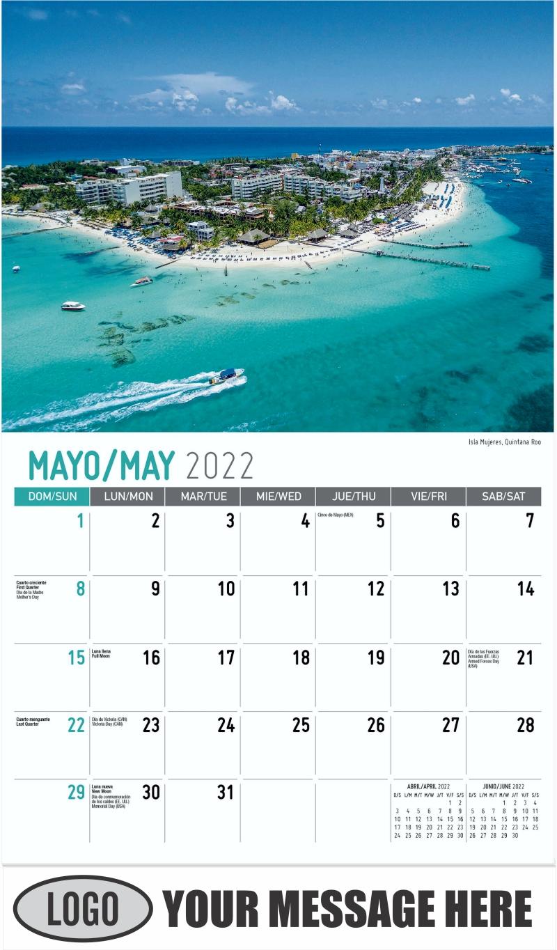 Isla Mujeres, Quintana Roo - May - Scenes of Mexico (Spanish-English bilingual) 2022 Promotional Calendar