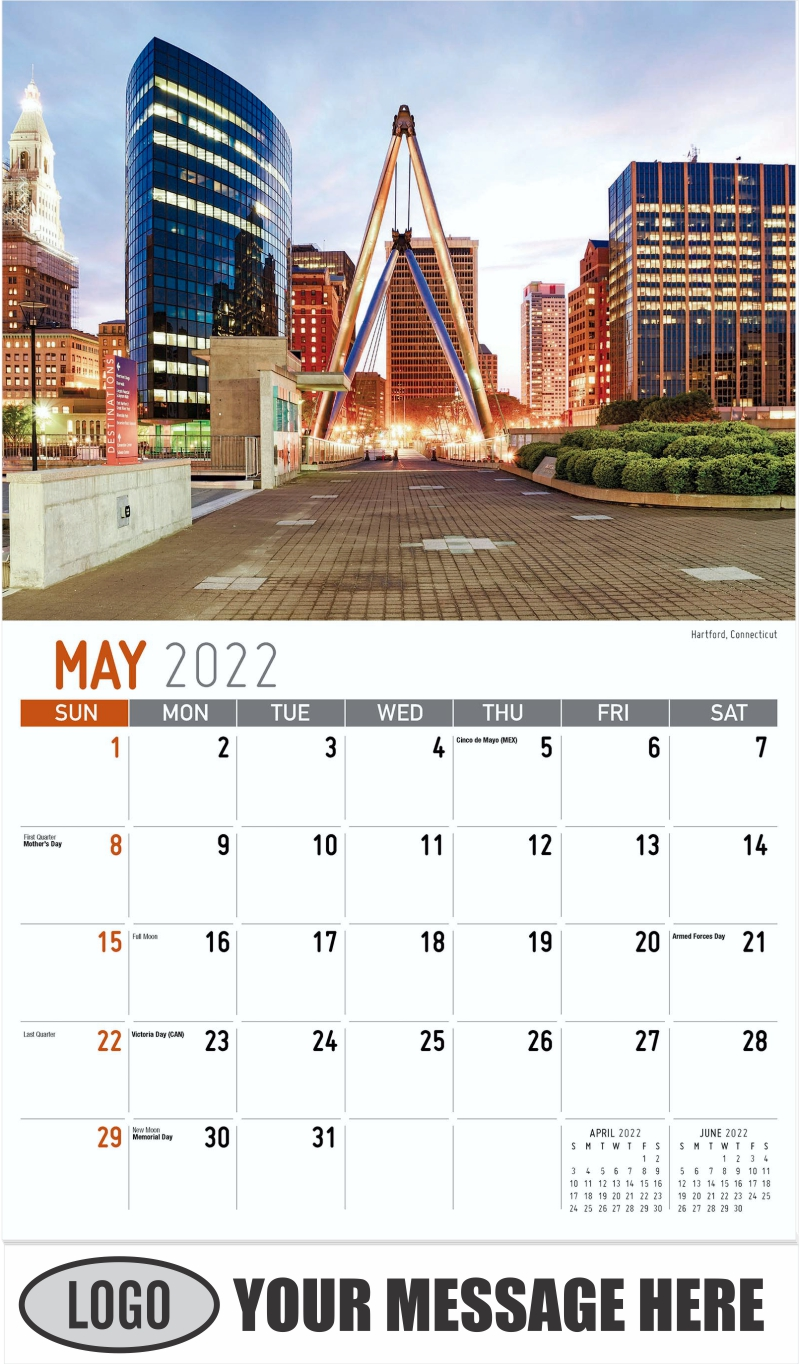 Hartford, Connecticut - May - Scenes of New England 2022 Promotional Calendar