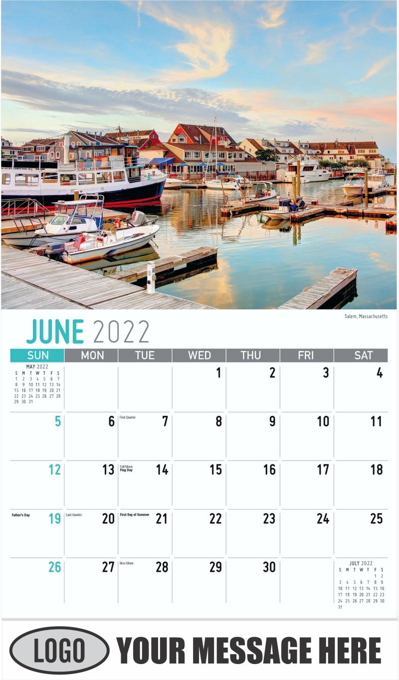Salem, Massachusetts - June - Scenes of New England 2022 Promotional Calendar