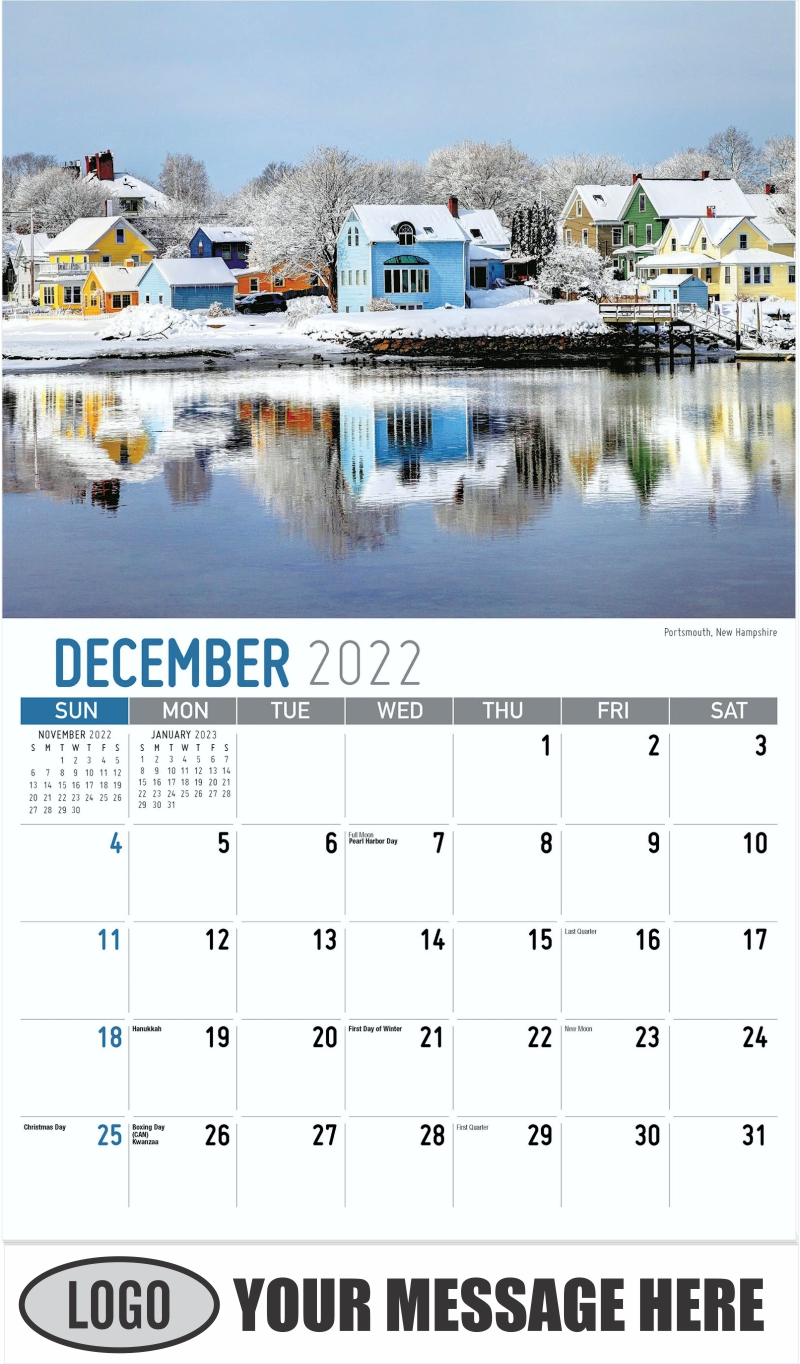 Portsmouth, New Hampshire - December 2022 - Scenes of New England 2022 Promotional Calendar