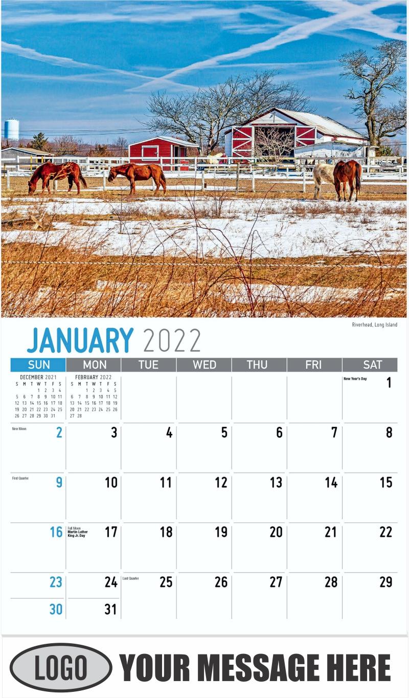 Riverhead, Long Island - January - Scenes of New York 2022 Promotional Calendar
