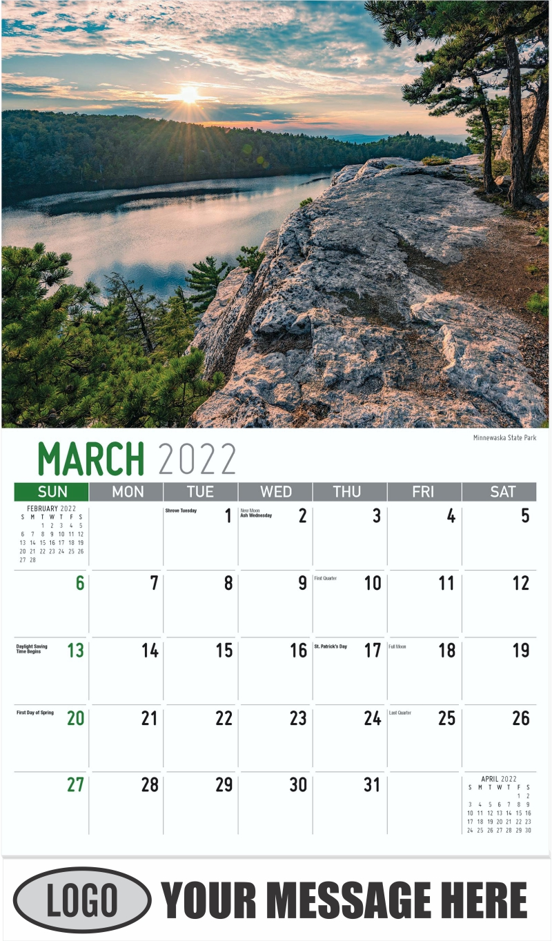 Minnewaska State Park - March - Scenes of New York 2022 Promotional Calendar