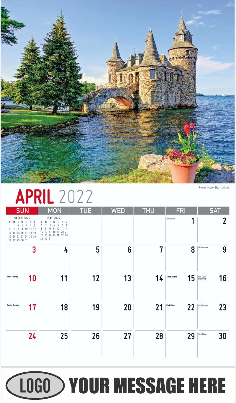 Power House, Heart Island - April - Scenes of New York 2022 Promotional Calendar