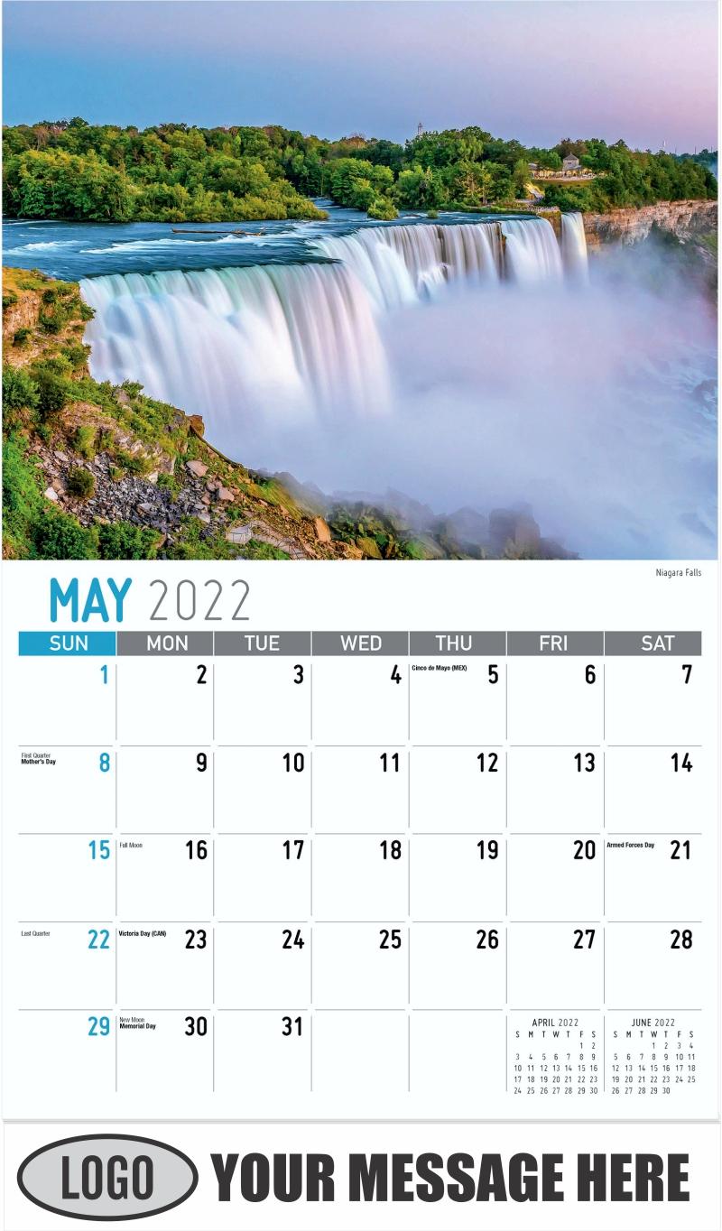 Niagara Falls - May - Scenes of New York 2022 Promotional Calendar