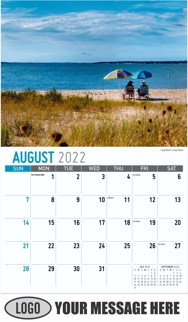Long Beach, Long Island - August - Scenes of New York 2022 Promotional Calendar