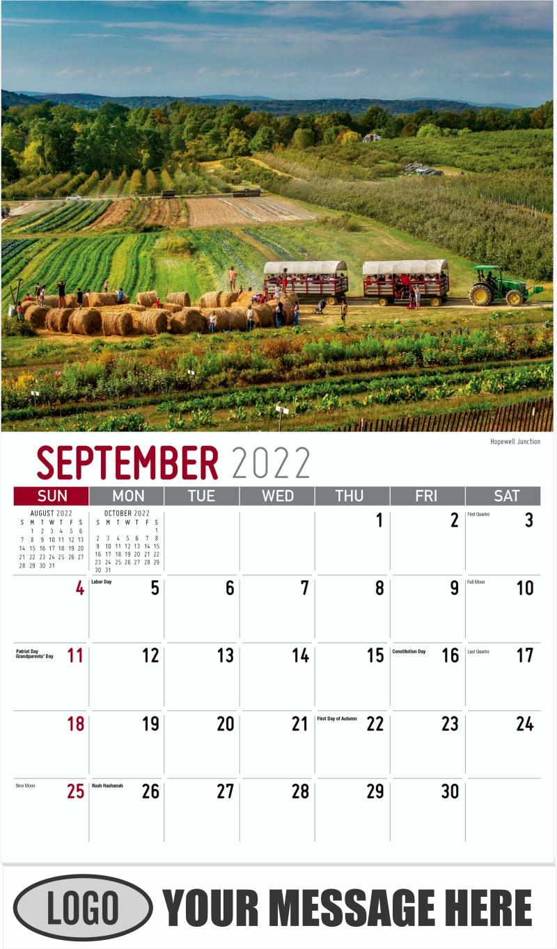 Hopewell Junction - September - Scenes of New York 2022 Promotional Calendar