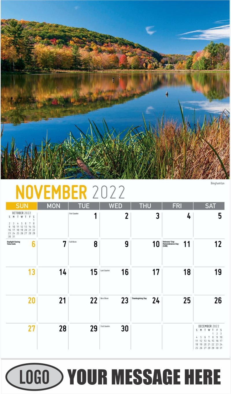 Binghamton - November - Scenes of New York 2022 Promotional Calendar