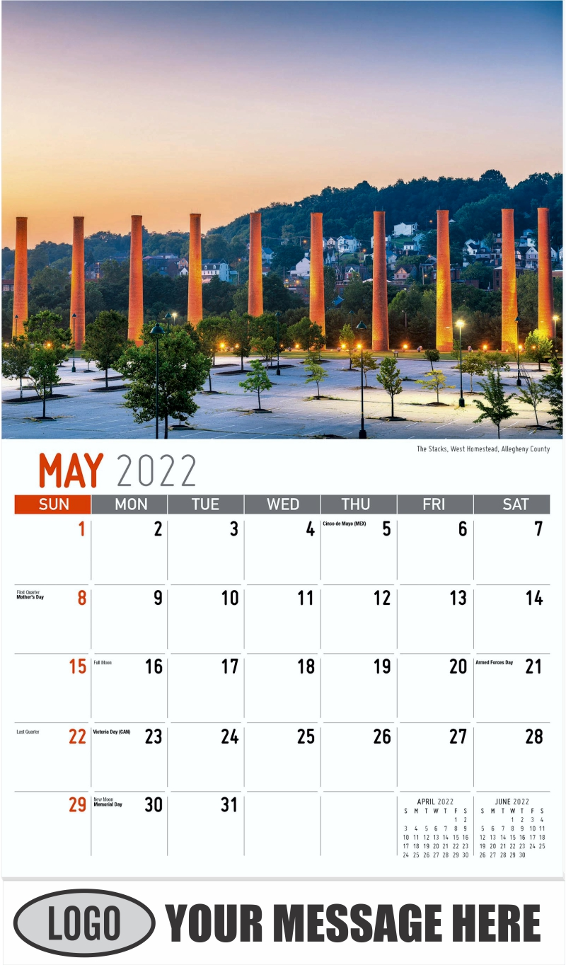 The Stacks, West Homestead, Allegheny County - May - Scenes of Pennsylvania 2022 Promotional Calendar