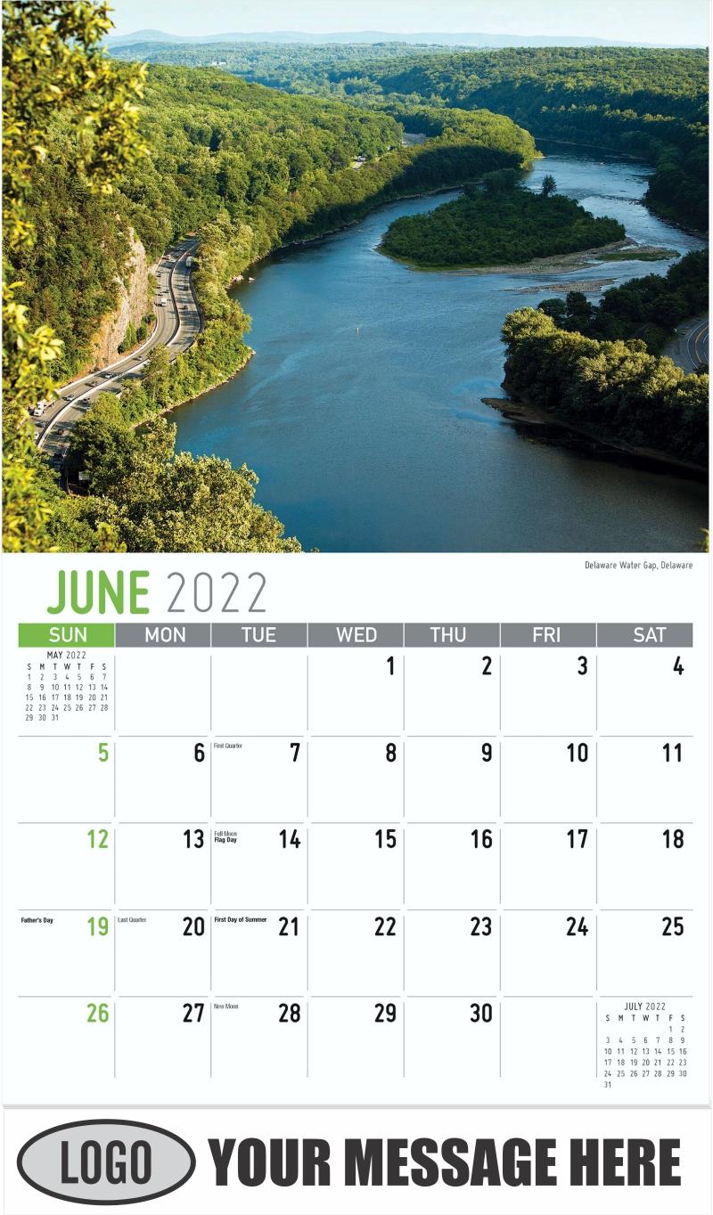 Delaware Water Gap, Delaware - June - Scenes of Pennsylvania 2022 Promotional Calendar