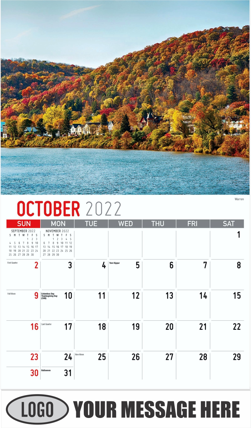 Warren - October - Scenes of Pennsylvania 2022 Promotional Calendar