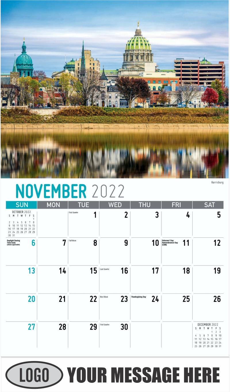 Harrisburg - November - Scenes of Pennsylvania 2022 Promotional Calendar
