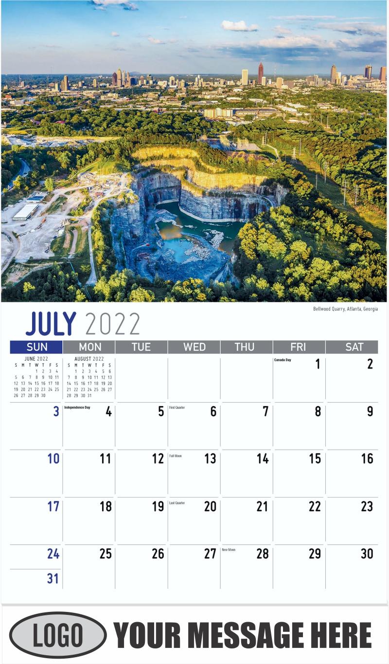 Bellwood Quarry, Atlanta, Georgia - July - Scenes of Southeast USA 2022 Promotional Calendar