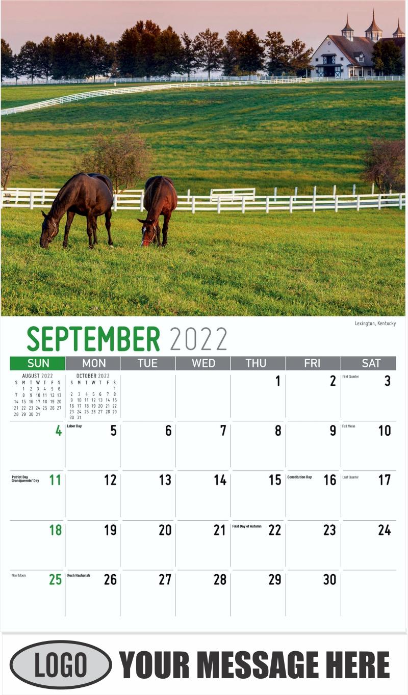 Lexington, Kentucky - September - Scenes of Southeast USA 2022 Promotional Calendar