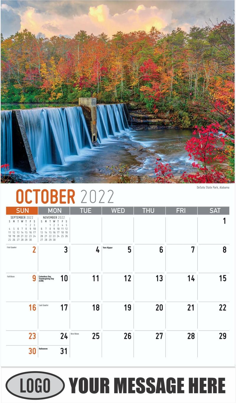 DeSoto State Park, Alabama - October - Scenes of Southeast USA 2022 Promotional Calendar