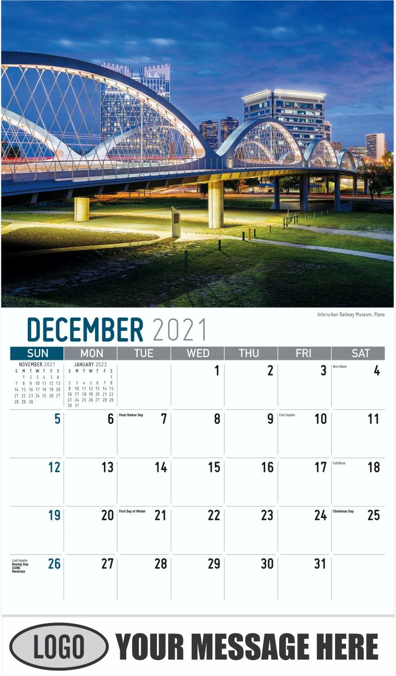 Interurban Railway Museum, Plano - December 2021 - Scenes of Texas 2022 Promotional Calendar