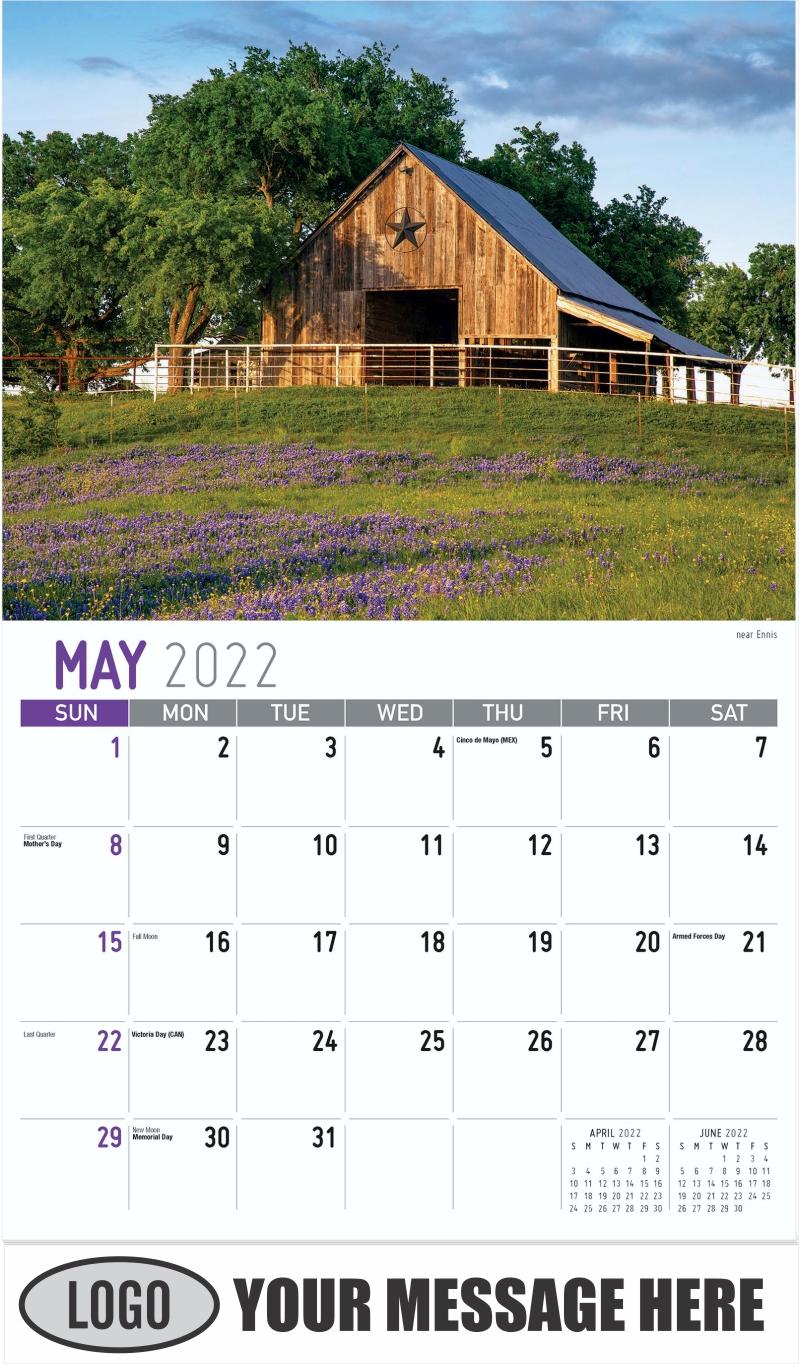 near Ennis - May - Scenes of Texas 2022 Promotional Calendar