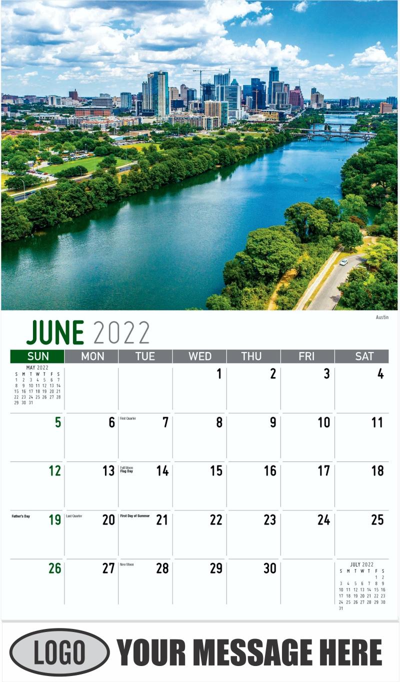 Austin - June - Scenes of Texas 2022 Promotional Calendar