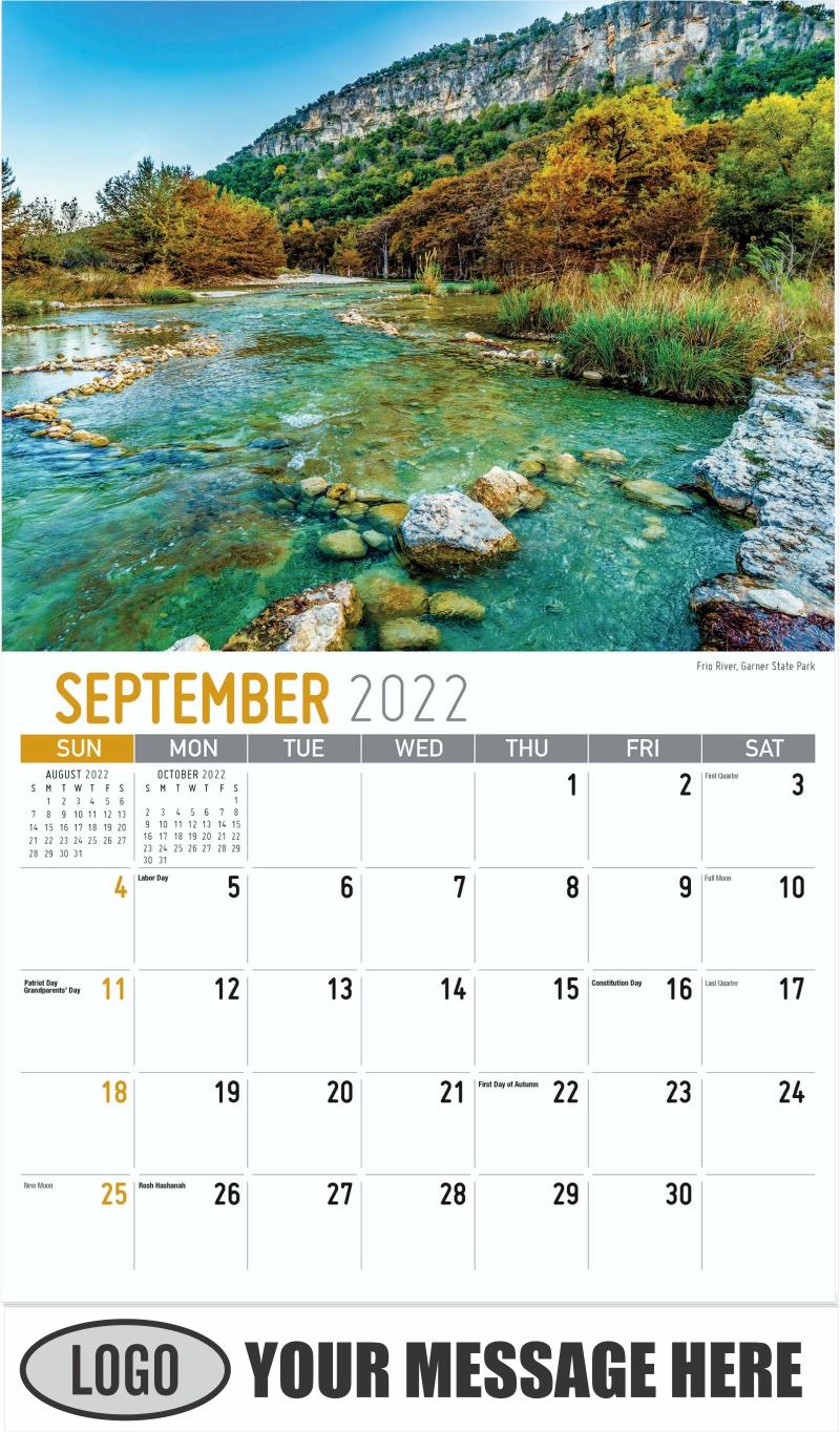 Frio River, Garner State Park - September - Scenes of Texas 2022 Promotional Calendar