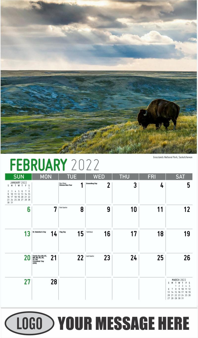 Grasslands National Park, Saskatchewan - February - Scenes of Western Canada 2022 Promotional Calendar