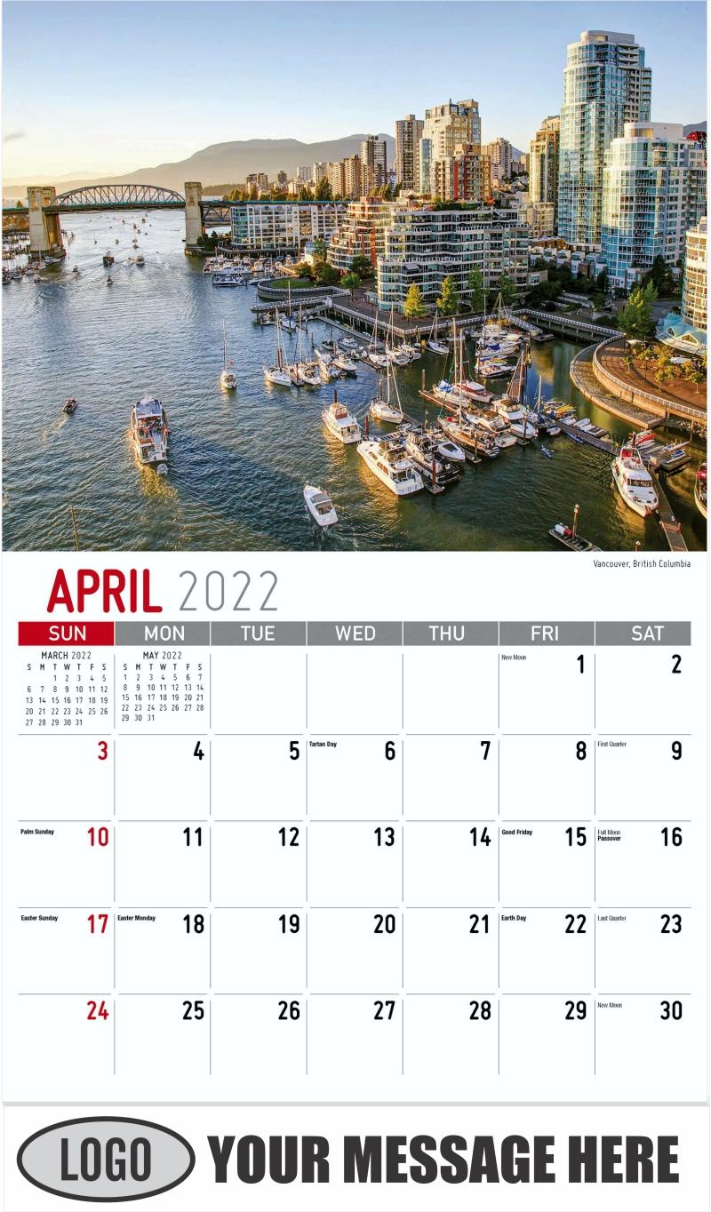 Vancouver, British Columbia - April - Scenes of Western Canada 2022 Promotional Calendar