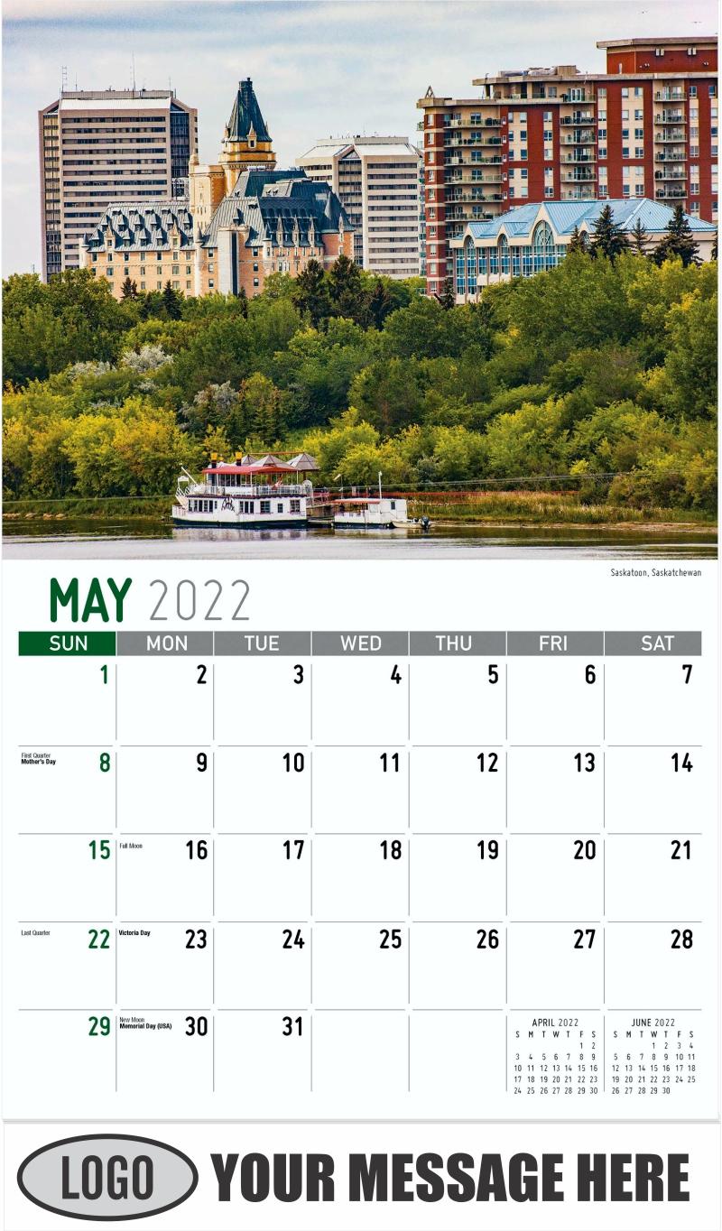 Saskatoon, Saskatchewan - May - Scenes of Western Canada 2022 Promotional Calendar