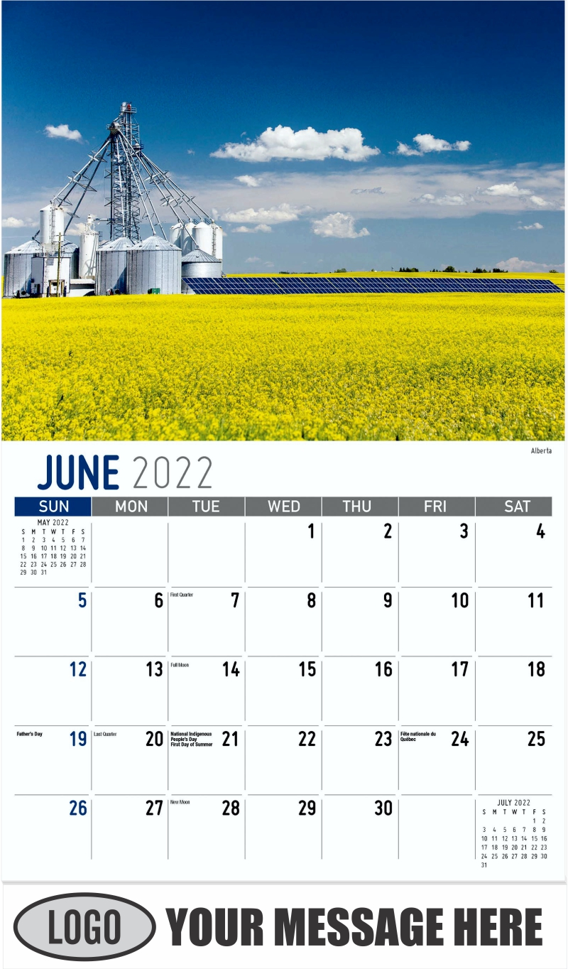 Alberta - June - Scenes of Western Canada 2022 Promotional Calendar