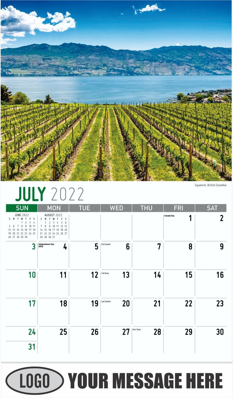 Squamish, British Columbia - July - Scenes of Western Canada 2022 Promotional Calendar