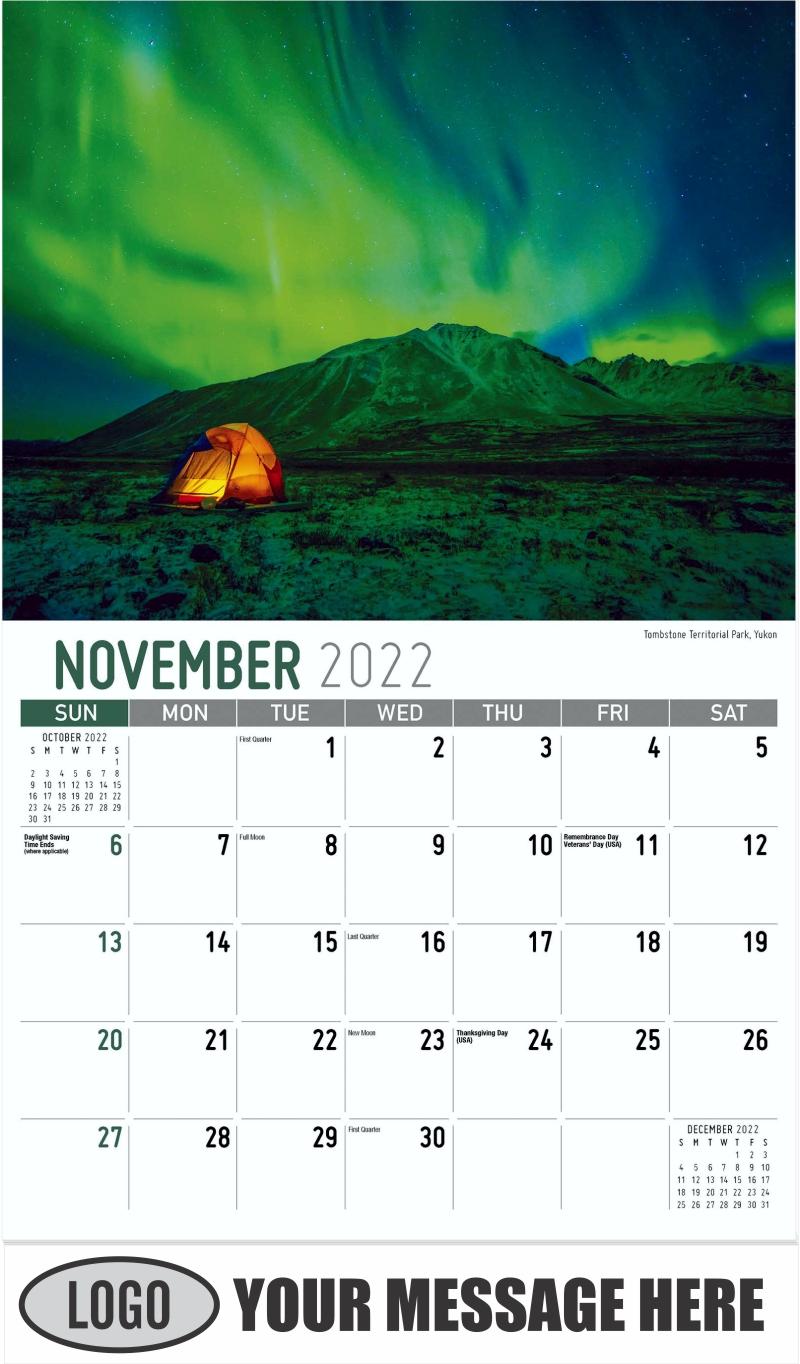 Tombstone Territorial Park, Yukon - November - Scenes of Western Canada 2022 Promotional Calendar