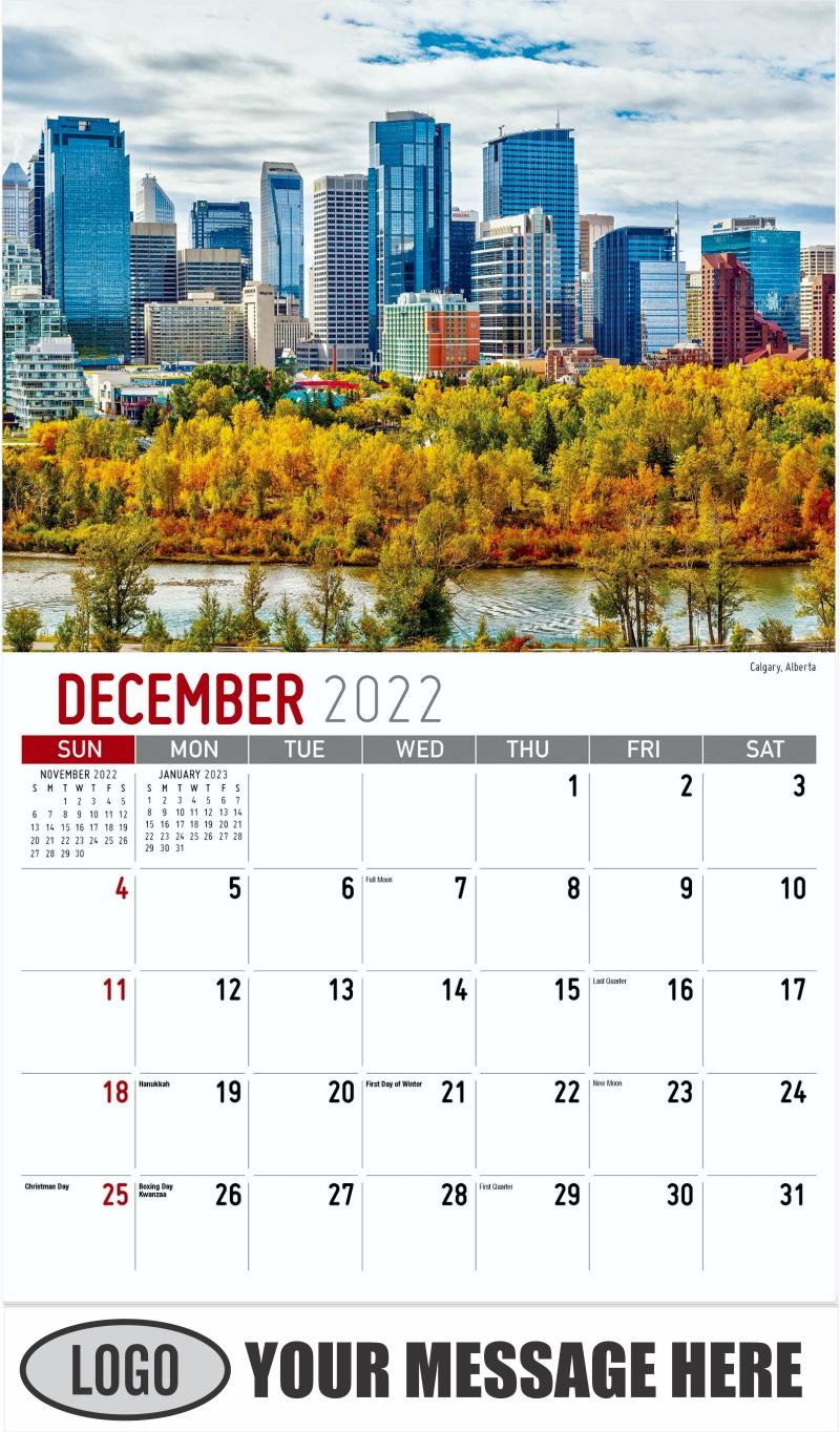 Calgary, Alberta - December 2022 - Scenes of Western Canada 2022 Promotional Calendar