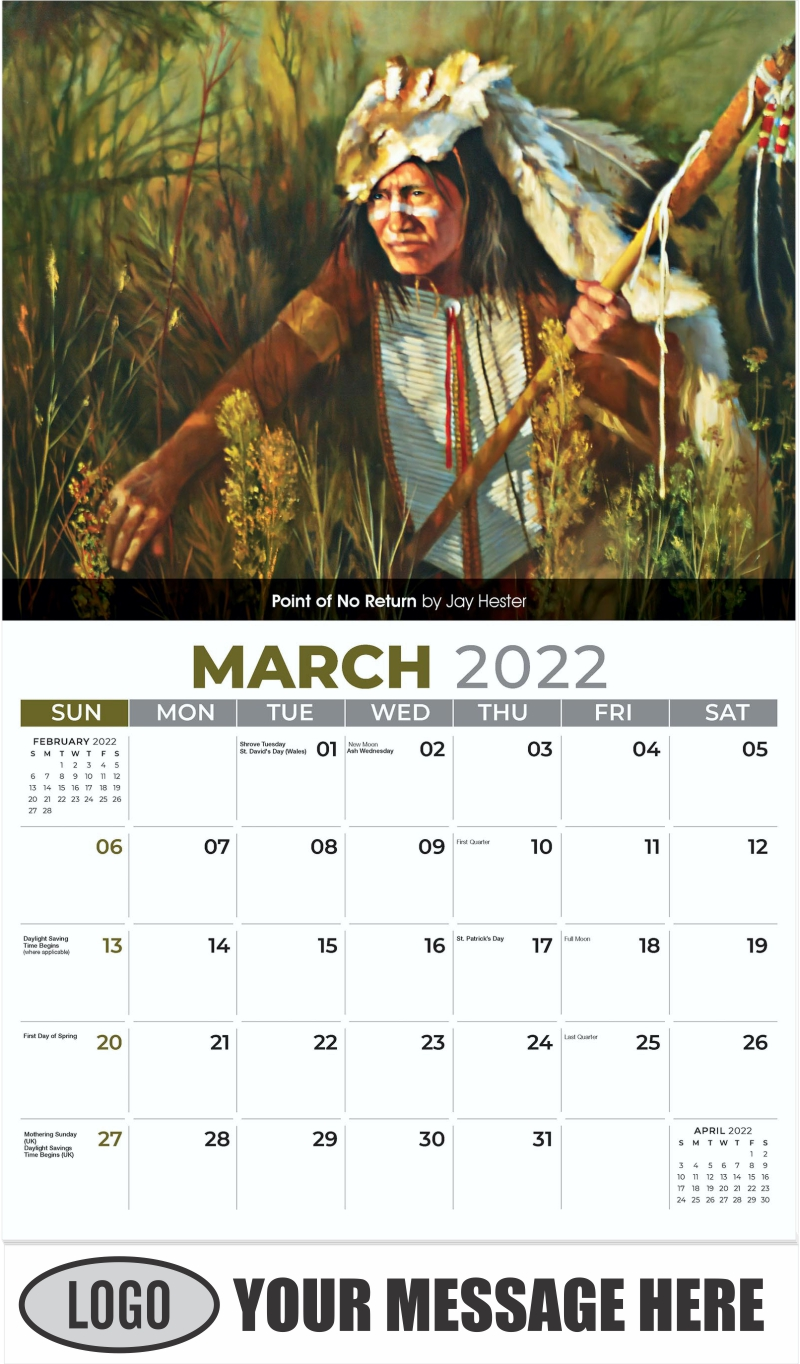 Point of No Return by Jay Hester - March - Spirit of the West 2022 Promotional Calendar