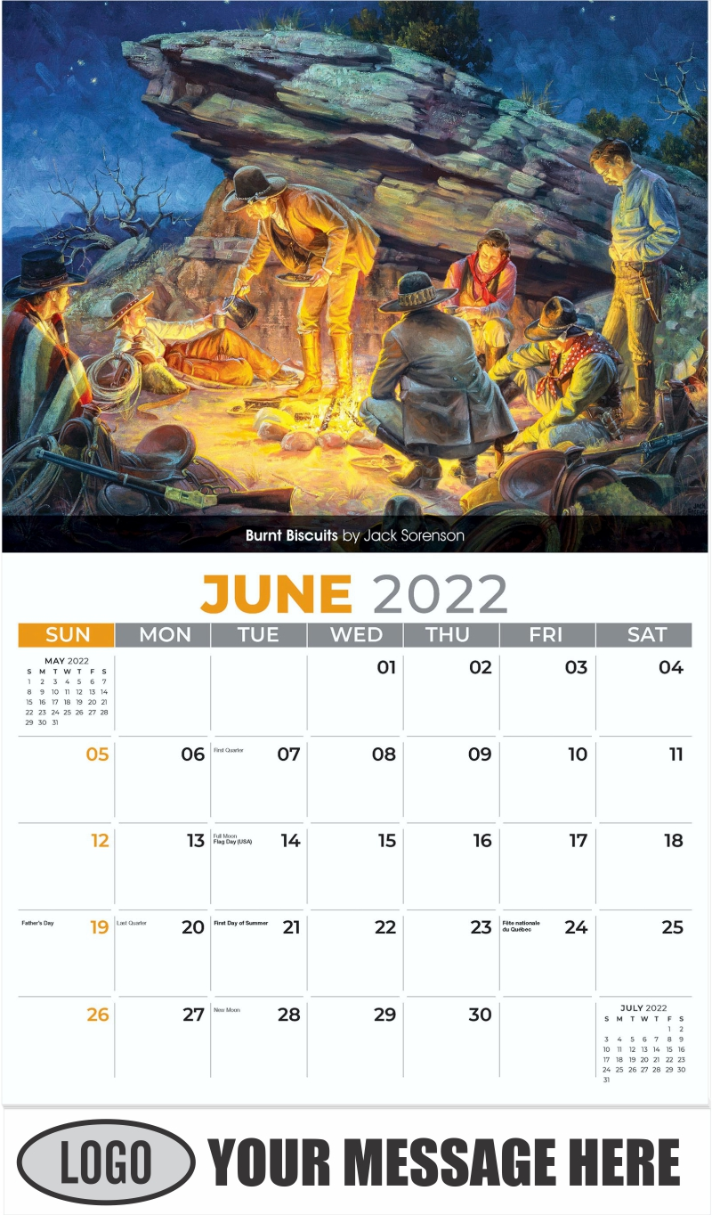 Burnt Biscuits and Beans by Jack Sorenson - June - Spirit of the West 2022 Promotional Calendar