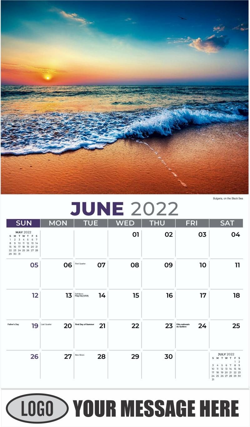 Bulgaria, on the Black Sea - June - Sun, Sand and Surf 2022 Promotional Calendar