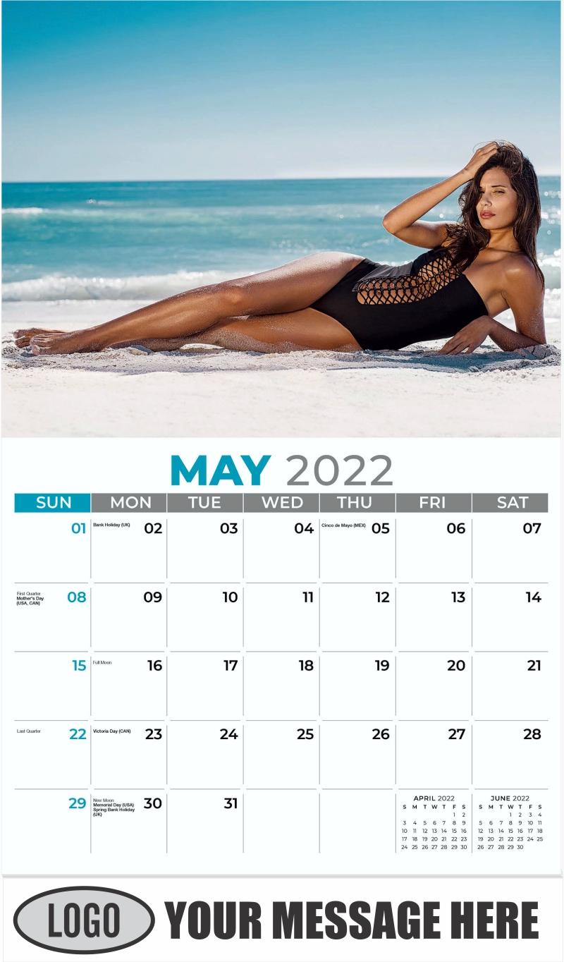 Bikini Models Calendar - May - Swimsuits 2022 Promotional Calendar