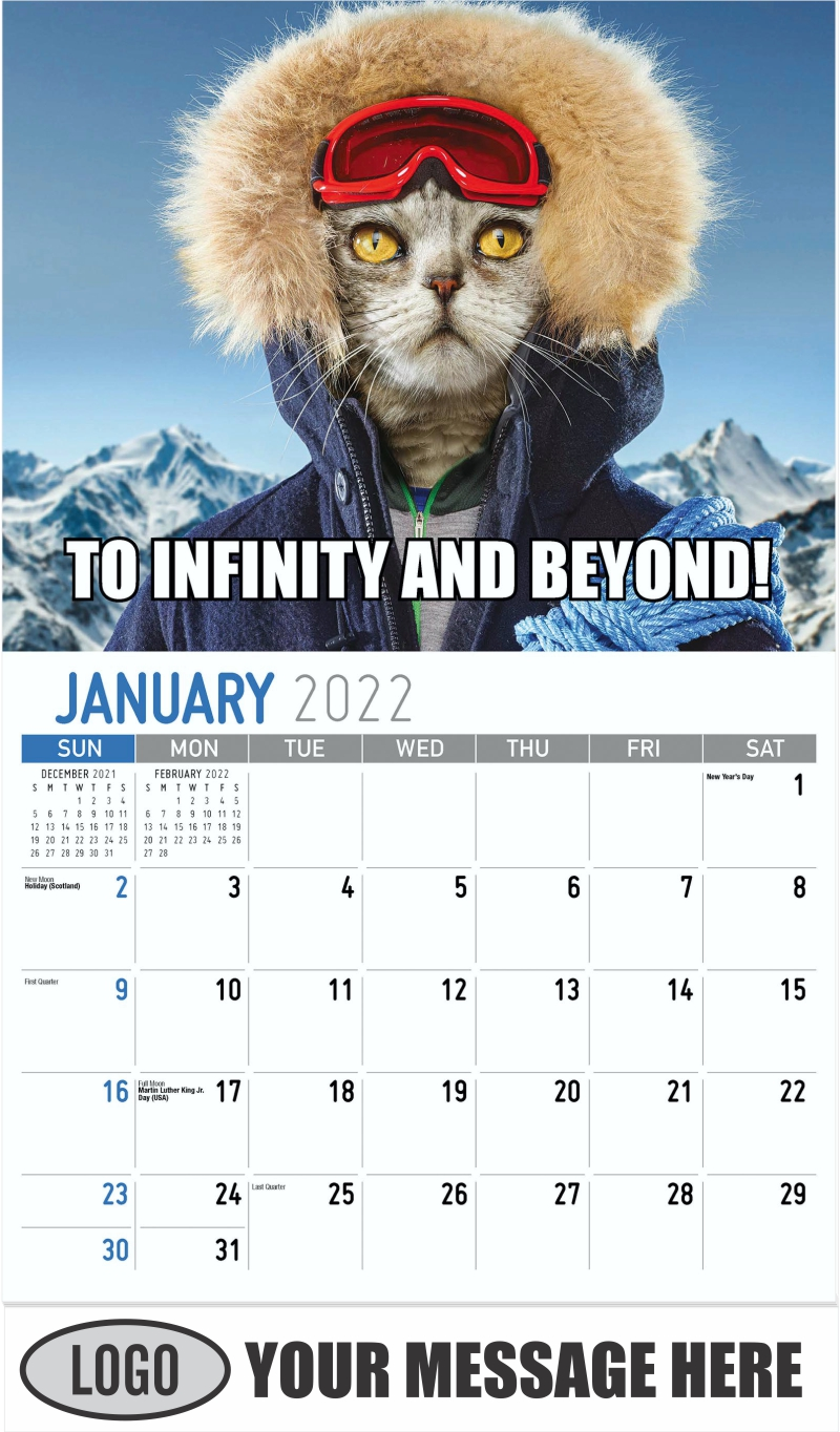 TO INFINITY AND BEYOND! - January - The Memeing of Life 2022 Promotional Calendar
