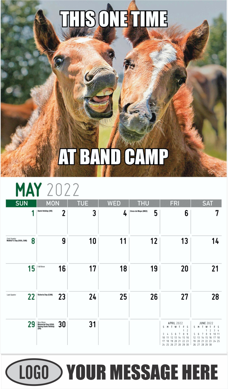 THIS ONE TIME AT BAND CAMP - May - The Memeing of Life 2022 Promotional Calendar