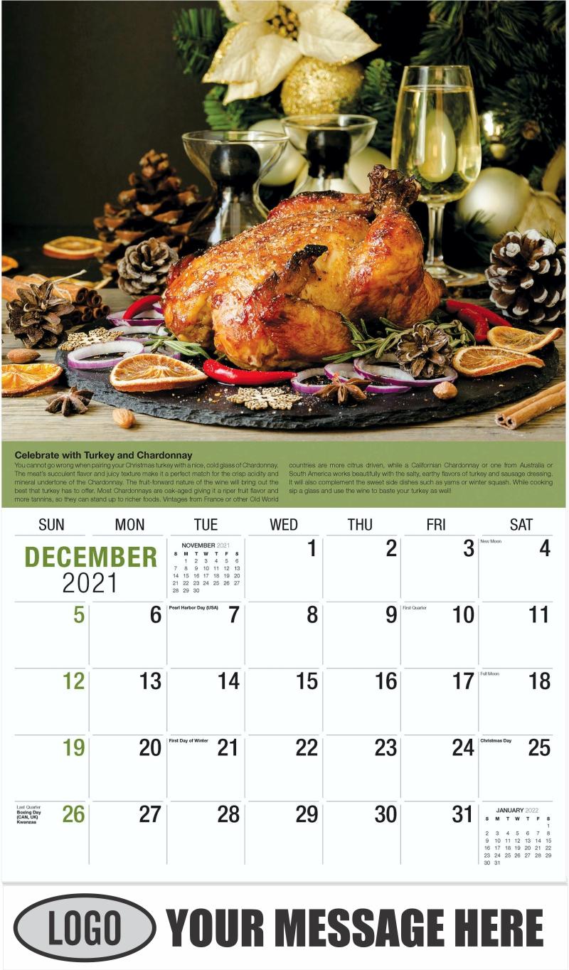 Wine Tips Calendar - December 2021 - Vintages 2022 Promotional Calendar