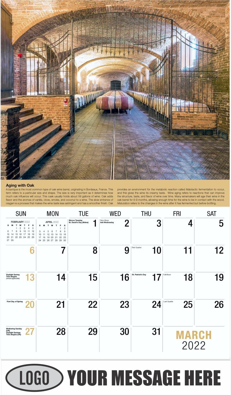 Wine Tips Calendar - March - Vintages 2022 Promotional Calendar