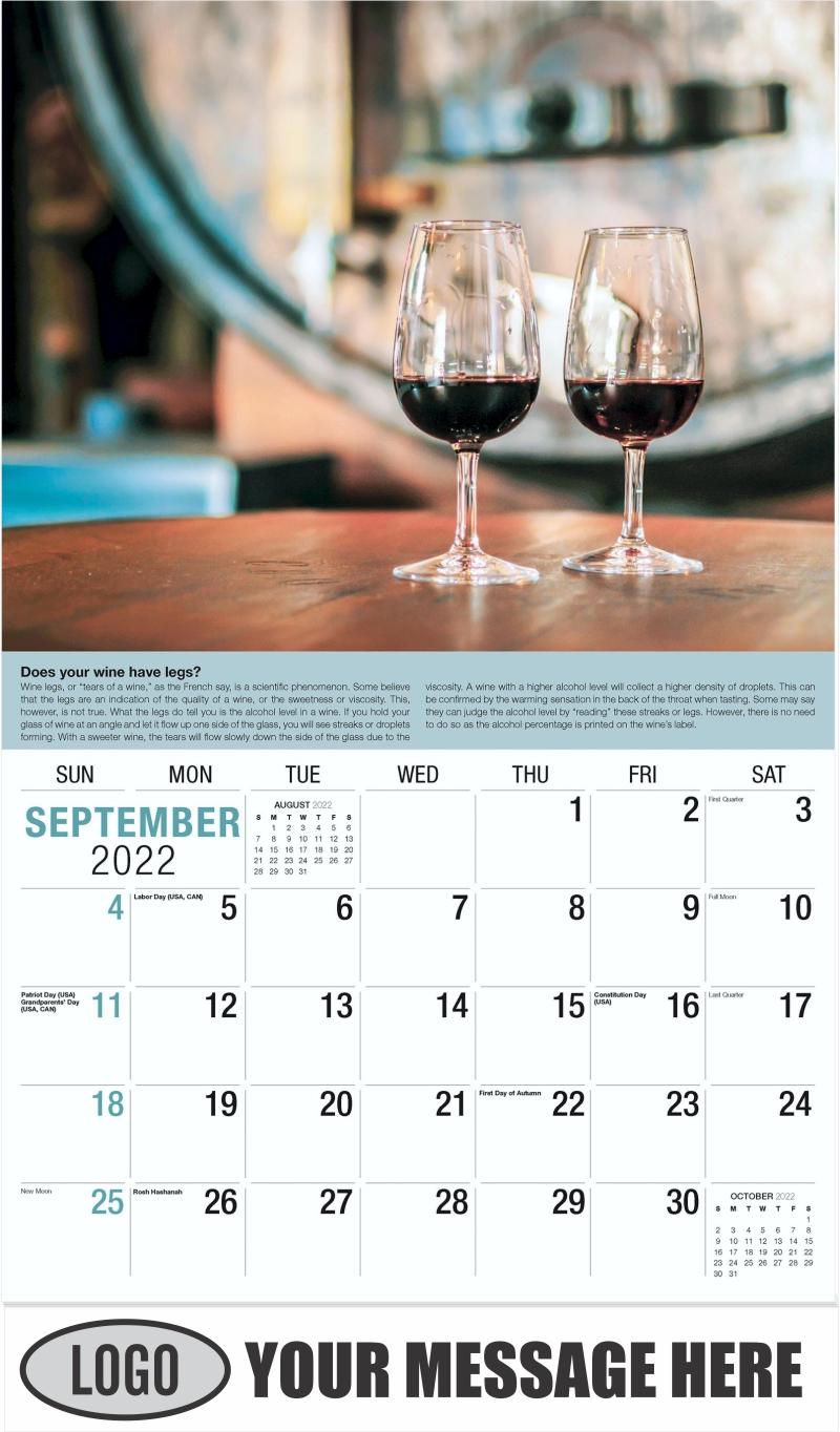 Wine Tips Calendar - September - Vintages 2022 Promotional Calendar