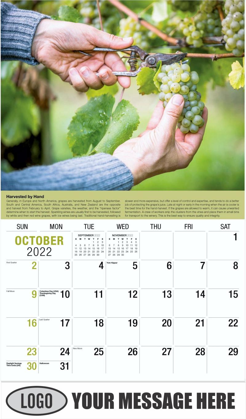 Wine Tips Calendar - October - Vintages 2022 Promotional Calendar