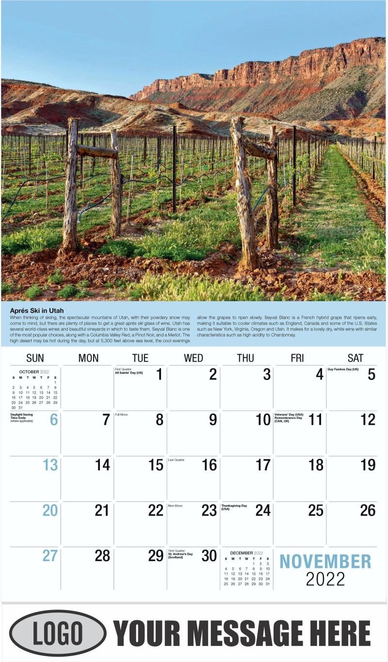 Wine Tips Calendar - November - Vintages 2022 Promotional Calendar