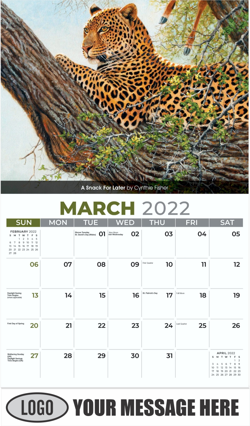 A Snack For Later by Cynthie Fisher - March - Wildlife Portraits 2022 Promotional Calendar