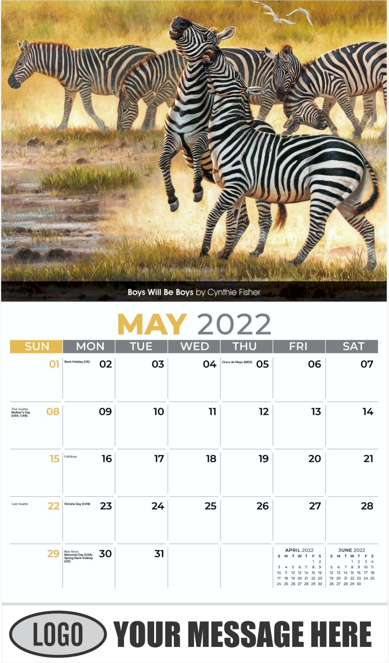 Boys Will Be Boys by Cynthie Fisher - May - Wildlife Portraits 2022 Promotional Calendar