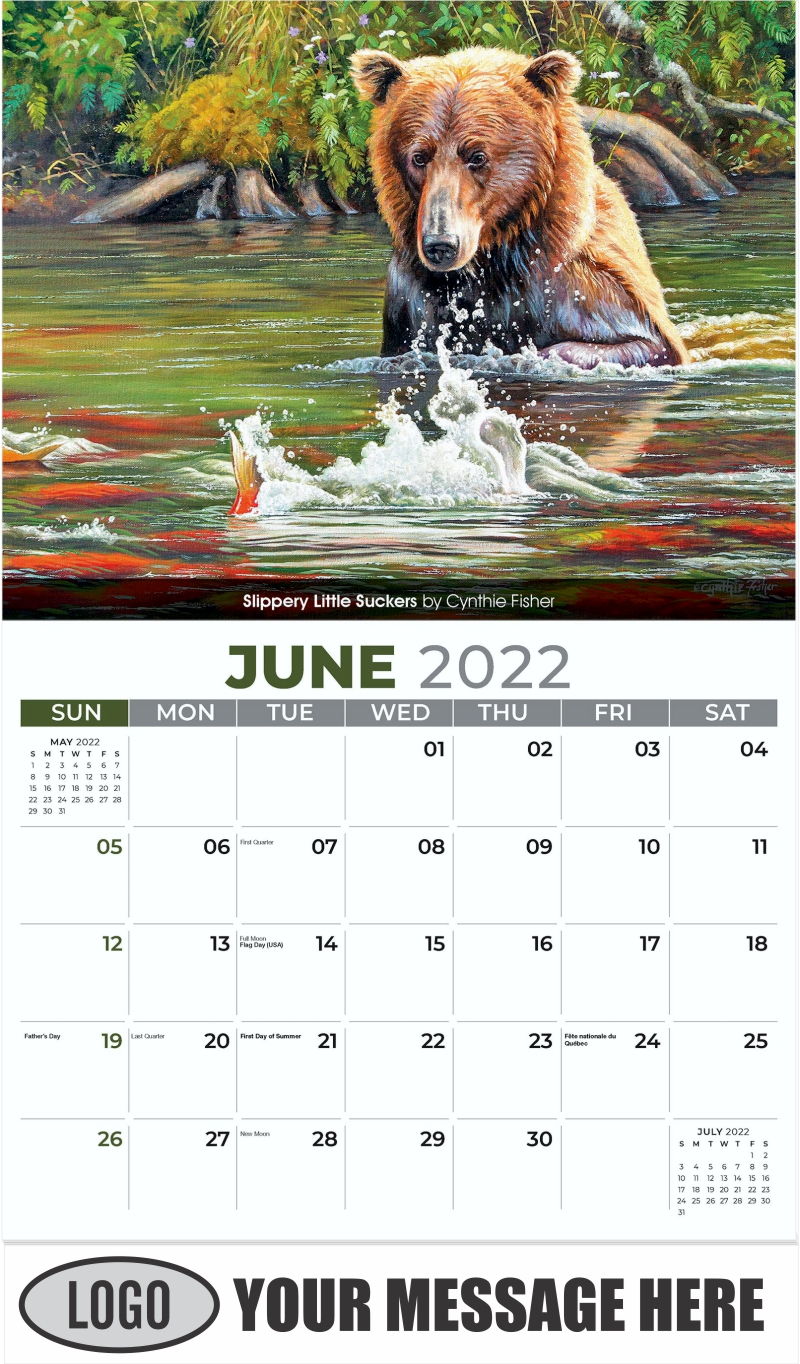 Slippery Little Suckers by Cynthie Fisher - June - Wildlife Portraits 2022 Promotional Calendar