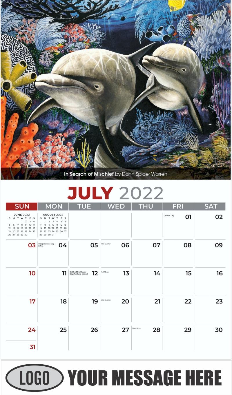 In Search Of Mischief by Dann Spider Warren - July - Wildlife Portraits 2022 Promotional Calendar